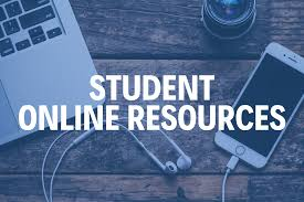 laptop and iphone, text: Student Online Resources
